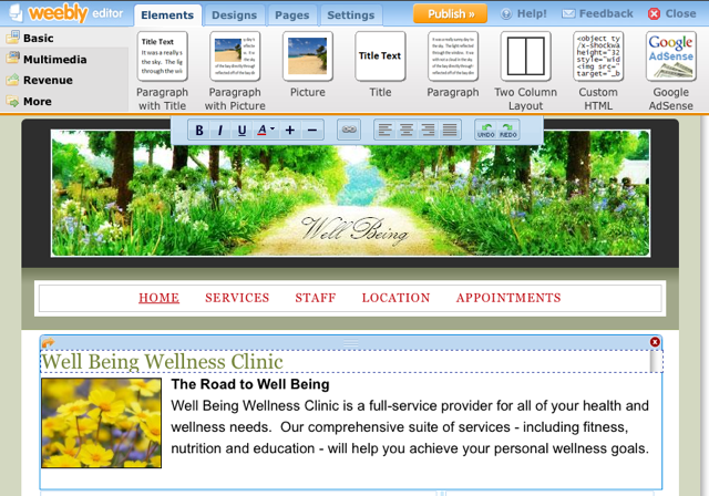 Sample Site Built with Weebly