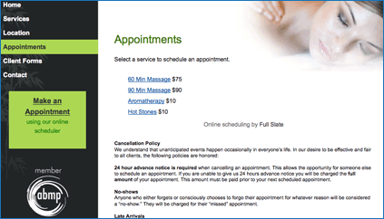 Massage Appointment Scheduler